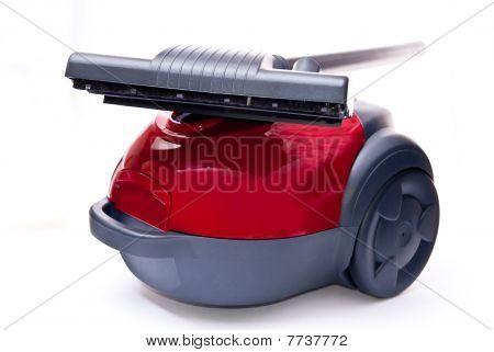 Red Vacuum Cleaner And Brush