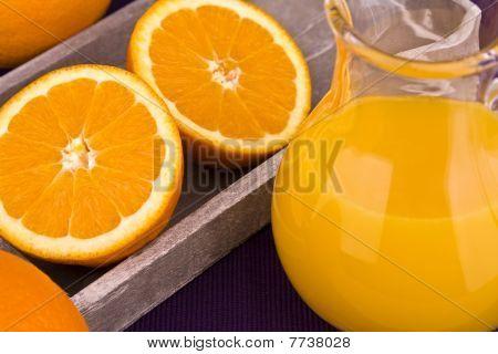 Orange juice in carafe