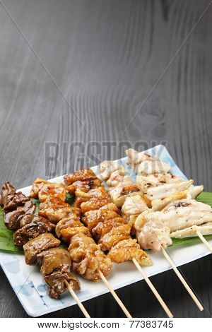 Japanese chicken BBQ called yakitori