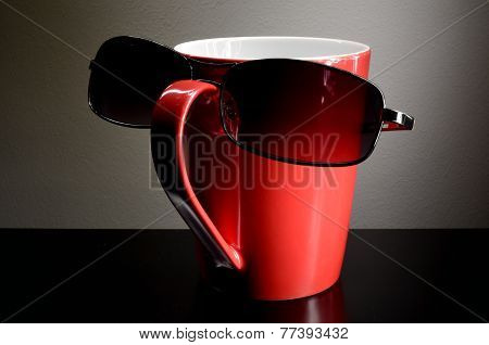 Red Cup With Sunglasses