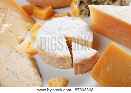 Soft cheese, brie or camembert, with other cheeses