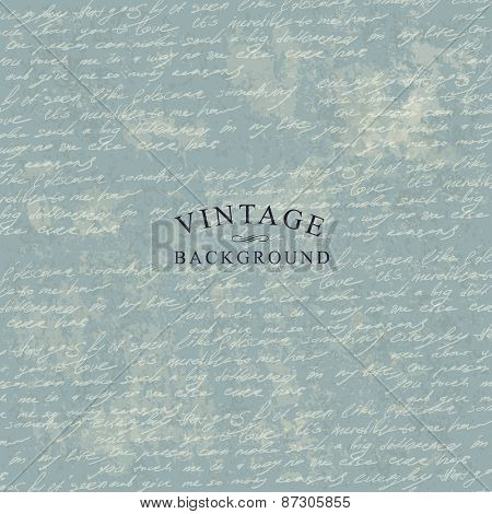 Vintage Delicate Background Template for Cover Designs. With Grunge Textured Background.