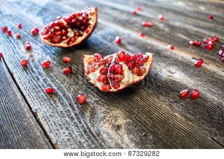 Split Pomegranate