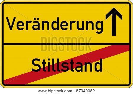 Standstill and change
