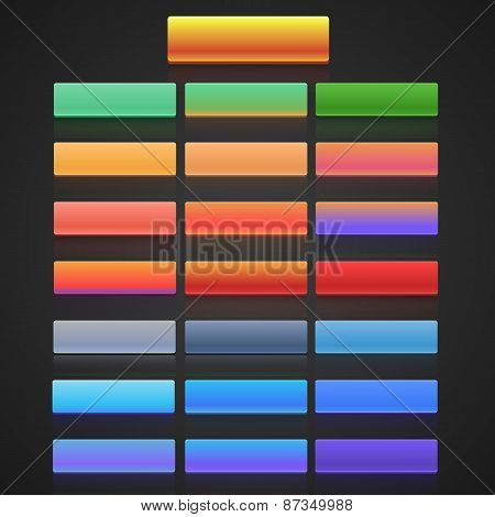 Flat user interface vector set for website development and mobile application