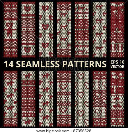 Fabric Stitched Background Patterns