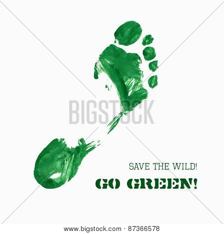 Green Foot Imprint
