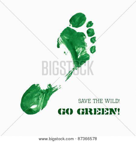 Green Foot Imprint