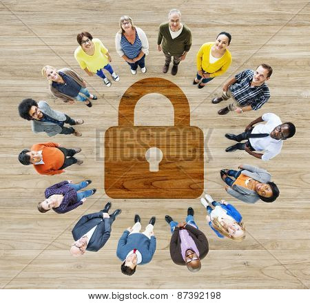 Password Security Privacy Protection Confidentiality Lock Login Concept poster