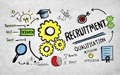 Recruitment Application Planning Working Strategy Concept poster