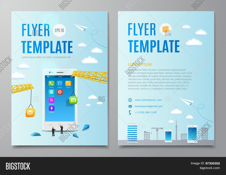 Book Cover Design Application : Design flyer book cover vector photo bigstock