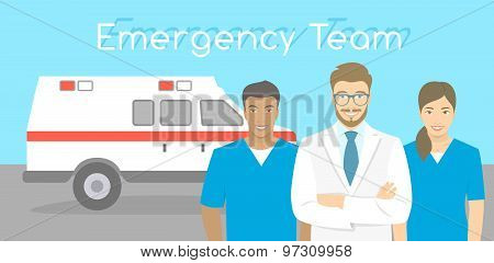 Doctor And Nurses Ambulance Personnel