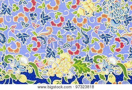 Traditional Batik Sarong Pattern.
