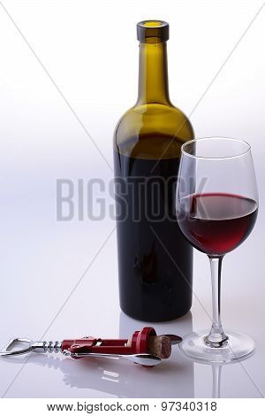 Bottle Glass And Wine Opener