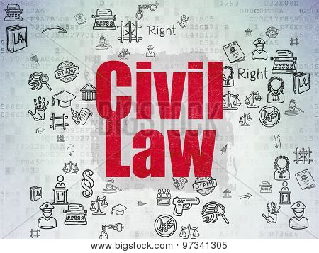 Law concept: Civil Law on Digital Paper background