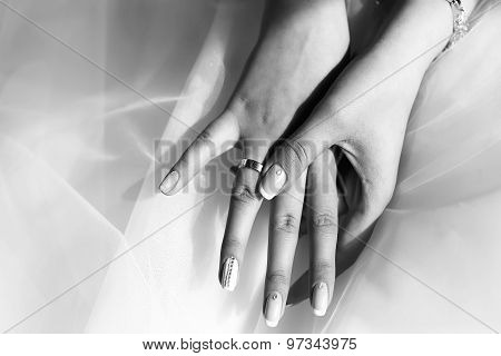 Female Hands With Ring