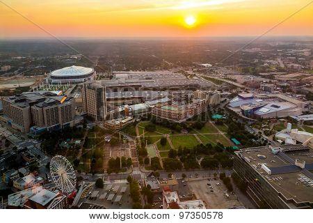 Skyline Of Downtown Atlanta, Georgia