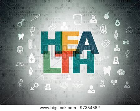 Health concept: Health on Digital Paper background