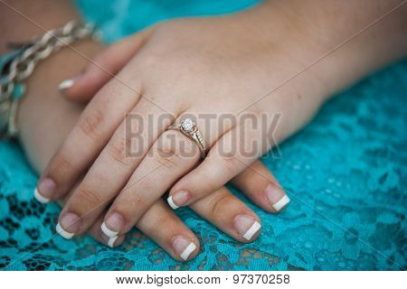 Wedding Day Holding Hands