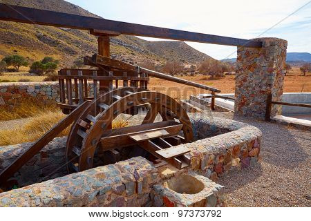 Almeria in Cabo de Gata Rodalquilar waterwheel traditional at Spain