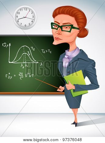 Teacher With Board.