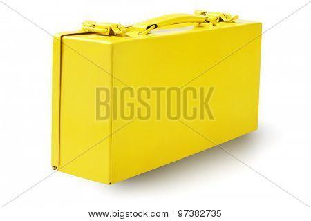 Yellow Tool Box on White Background