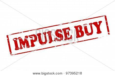 Rubber stamp with text impulse buy inside vector illustration