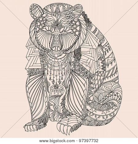 Patterned bear