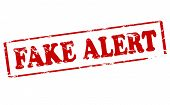 Rubber stamp with text fake alert inside vector illustration poster