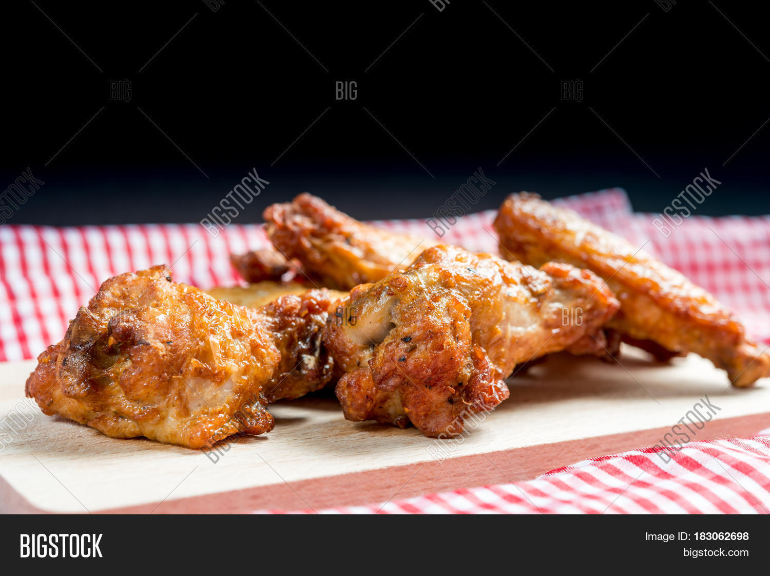 Delicious fried chicken wings on image photo bigstock for Table 52 fried chicken recipe