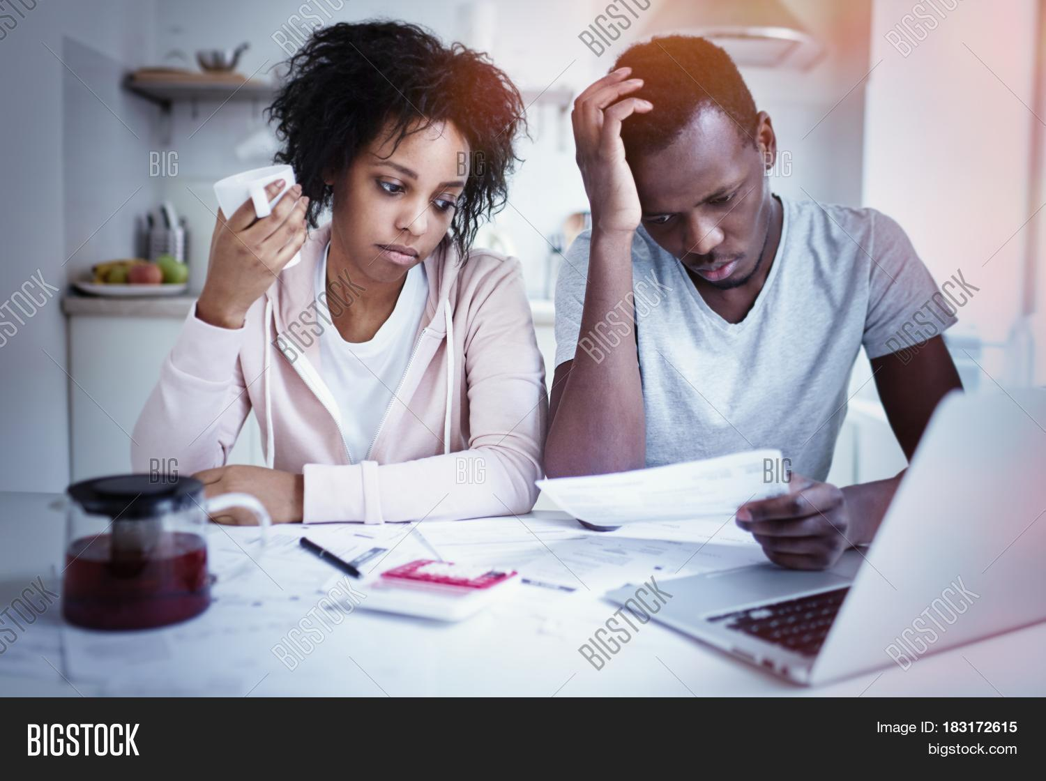 Stressed African American Couple Image & Photo | Bigstock