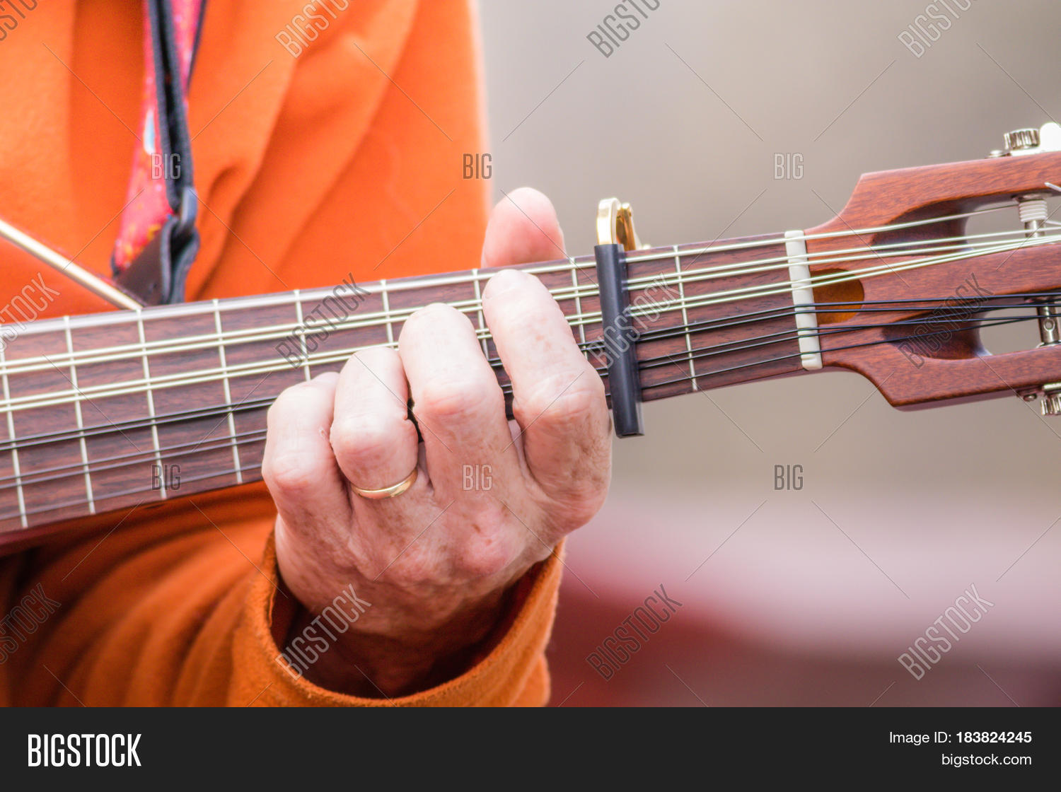 Playing Chord On Image Photo Free Trial Bigstock