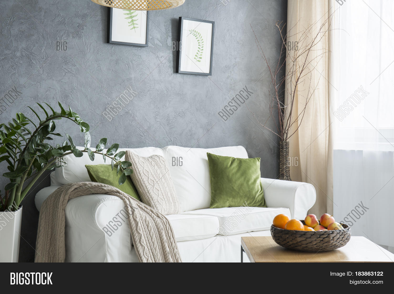 Magnificent Cozy Living Room Grey Image Photo Free Trial Bigstock Gamerscity Chair Design For Home Gamerscityorg