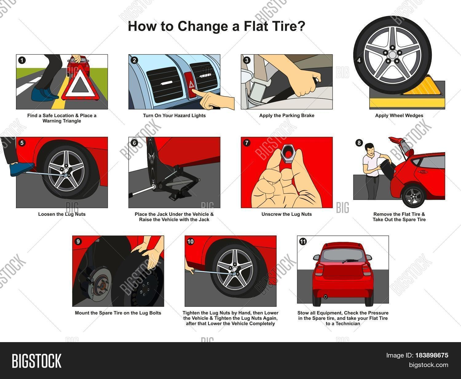How Change Flat Tire Image  U0026 Photo  Free Trial