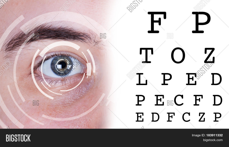 Eye Test Vision Chart Image Photo Bigstock