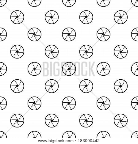 Round objective pattern seamless in simple style vector illustration