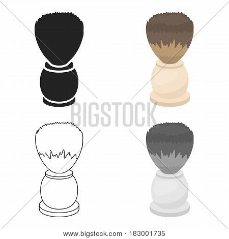 Shaving brush icon in cartoon style isolated on white background. Hairdressery symbol vector illustration.