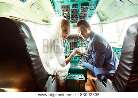 Crazy Couple In The Cabin Of The Plane