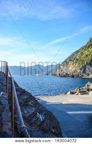 cinque terre monterosso bay italy liguria view