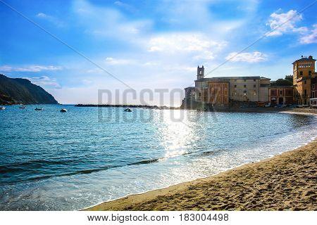 cinque terre monterosso bay italy liguria sea