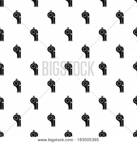 Whistle pattern seamless in simple style vector illustration