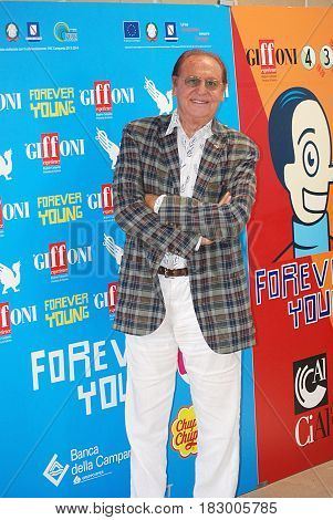 Giffoni Valle Piana Sa Italy - July 27 2013 : Renzo Arbore at Giffoni Film Festival 2013 - on July 27 2013 in Giffoni Valle Piana Italy