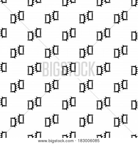 Knuckles with spikes pattern seamless in simple style vector illustration