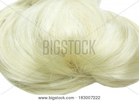 blond hair creative coiffure isolated on white background poster