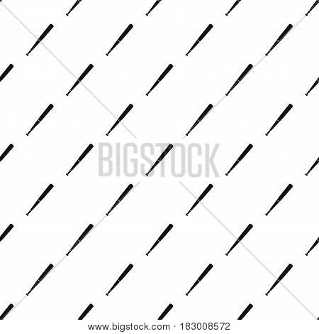 Black baseball bat pattern seamless in simple style vector illustration