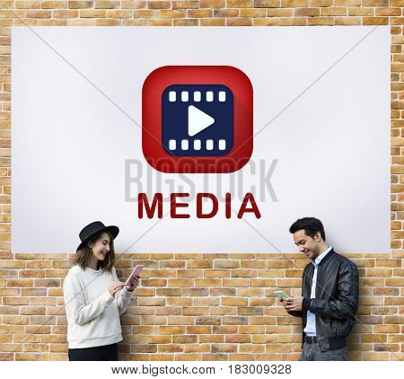 Media Player Play Button Graphic