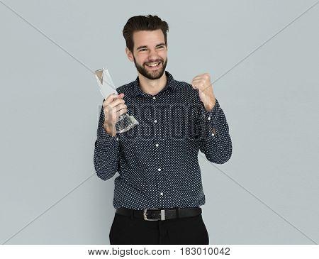 Caucasian Business Man Award Smiling