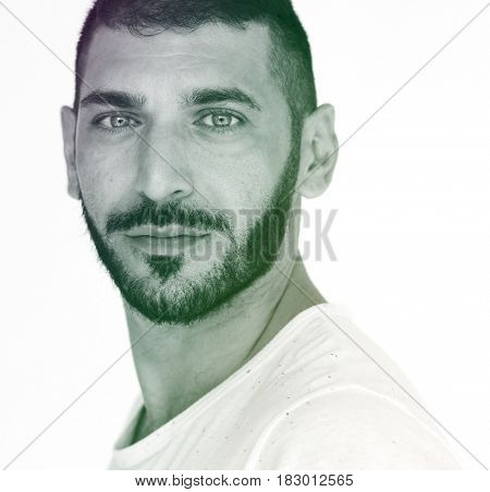 Middle eastern man studio photo shoot