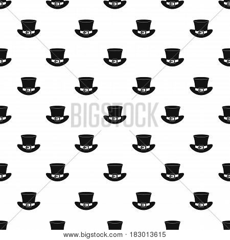 Top hat with buckle pattern seamless in simple style vector illustration