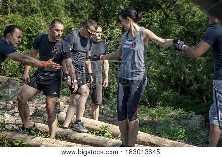 Participants In Physical Challenge